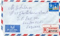 1965 Trinidad & Tobago AirMail Cover - London Parcel Post Hooded Circle Cancel