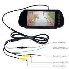 7'' TFT LCD Screen Car Rear View Mirror Monitor for Reversing Camera Kit DVD VCR