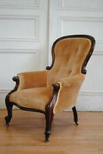 Antique Victorian Mahogany Gents Chair - Fireside Armchair Library