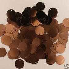 Sequins Paillettes / Flat 15mm Brown 200 pieces Loose