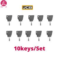 10 Keys Set JCB 3CX Digger Plant Ignition Key Part 701/45501 / Bobcat Bomag CAT