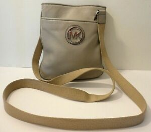 Michael Kors Fulton Logo Leather Crossbody Swingpack Shoulder Purse Bag