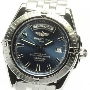 BREITLING Head wind A45355 Day date Navy Dial Automatic Men's Watch_633575
