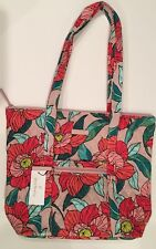 Vera Bradley Villager Vintage Floral Pattern Tote Travel Carry Zip Top Bag NEW