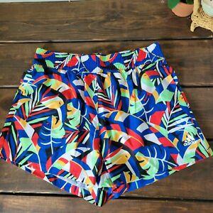 Adidas x Farm Rio Toucan Tropical Elastic Shorts Multi Color GD9025 Womens Sz S