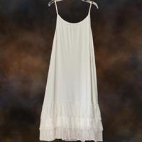 Boho Women White Lace Layering Tunic Tank Top Plus Size Extender Slip 1XL 2XL