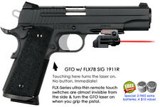ArmaLaser GTO for SIG Sauer 1911R RED Laser Sight w/ FLX78 Grip Touch On/Off