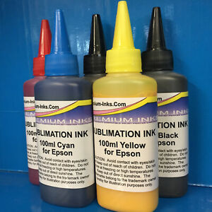 5 SUBLIMATION HEAT TRANSFER INK EPSON XP 510 520 600 605 610 615 620 700 NON OEM