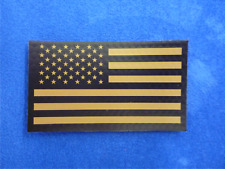 """FWD USA FLAG BROWN ON IR MB solasX PATCH 2ND 3.5""""X2"""" WITH VELCRO® BRAND FASTENER"""