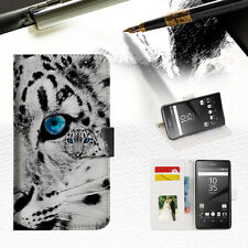 Leopard Wallet TPU Case Cover For Sony Xperia Z5 -- A013