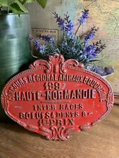Vintage French Animal Slaughter Plaque Award (1997)