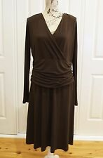 VEDUCCI Brown Dress Size 16