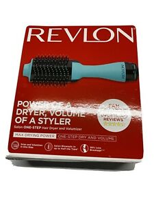 Revlon Pro Collection Salon One Step Hair Dryer & Volumizer Brush Blue Mint New