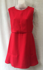 Zara Trafaluc NEW Dress Size 10 S Short Red Stretch Summer Work Casual Dinner