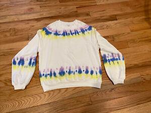 Electric & Rose Vendimia Tie Dye Sweatshirt Large White/Multi
