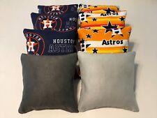 Houston Astros Stick And Slip Cornhole Bean Bags -Set Of 8