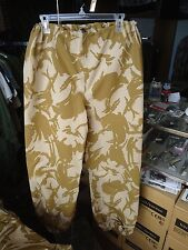 New British desert Camo wet weather pants, size 80/84/100, similiar to US large