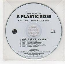 (GI42) A Plastic Rose, Kids Don't Behave Like This - DJ CD