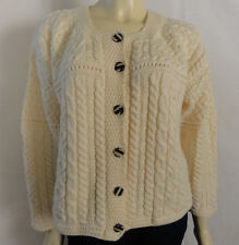 WESTERN ISLAND sweater company Ireland 100% pure wool ivory sweater size Medium