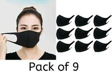 Unisex Pack of 9 Washable Breathable Reusable Mouth Protection Face Covering