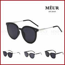 MEUR Sunglasses Polarized Retro Women Men Classic Fashion Black Rimmed Vintage