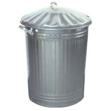 60L Liter galvanised steel metal bin -Indoor outdoor steel rubbish dustin