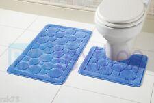 Cali Bubbles 2 Piece Bath Mat & Pedestal Set, Exclusive Non Slip Bathroom Set