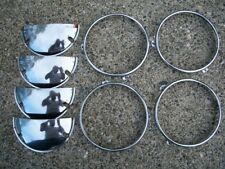 1974-1981 VW Volkswagen Scirocco MK1 A1 Headlight Chrome Rings and Covers