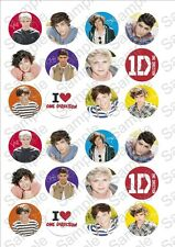 24 x One Direction Fairy cake toppers on rice paper! 1DFC