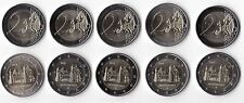 GERMANY  5 X 2€ UNC COIN 2014 YEAR NIEDERSACHSEN MINT A D F G J