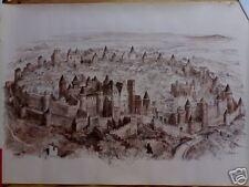 affiche litho Carcassone - Robida -  1925 -