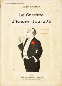 Vintage Art Nouveau Livre La Carriere D'Andre Tourette Leonetto Cappiello 1907