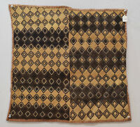 African Kuba Cloth Natural Woven Raffia Zaire Handmade Fabric African Kuba Cloth