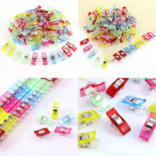 40 MULTI COLOURED WONDER CLIPS PEGS INSTEAD OF PINS SEWING & PAPER CRAFTING BNEW