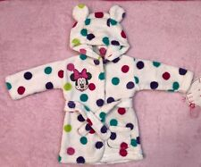 Disney Minnie Mouse polka dot baby girl dressing gown size 0-6 months