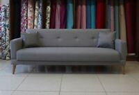 3 Seater Sofa Bed Click Clack Couch - Free Two Pillows - UK Free Delivery