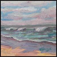 Kadi Love Keener Art Original Oil Painting Landscape Beach Ocean Waves