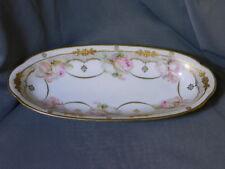 atq Erdmann Schlegelmilch SUHL Prussia - large SERVING PLATE Dish hand painted