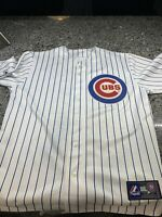 Majestic Alfonso Soriano Chicago Cubs Stitched White Jersey Men's Size L