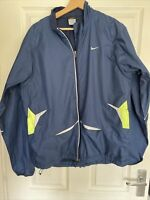 Nike Clima Fit Running Jacket Large Multi Zip Fitness Jacket Large Navy Vented