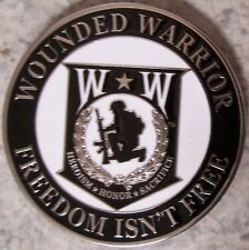 Car Grill Badge Military Wounded Warrios NEW metal including mounting hardware