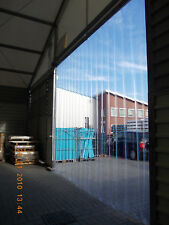 B 1,25m x H2,50m Lamellen PVC Streifen Vorhang 300x3mm
