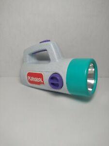 Vintage 1986 Playskool Grey Purple Blue Color Changing Red Green Flashlight Toy