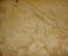 "60"" wide Light Camel shaggy faux fur long pile upholstery custom fabric by yard"