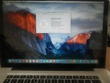 "Apple MacBook Pro 15.4"" Core i7, 2.5 GHz A1286 4GB, 160 GB  Late 2011"