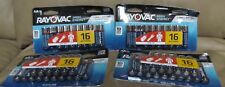Lot of 4 PACKS Rayovac AA Batteries (Expires 2028)  **BRAND NEW**...16 EACH