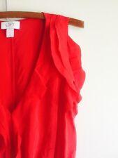 Red Silk Ann Taylor LOFT Dress. Size 8