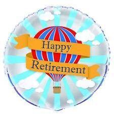 """18"""" HAPPY RETIREMENT HELIUM FOIL BALLOON LEAVING PARTY HOT AIR 56659"""