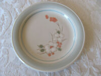 Impressions by Daniele Riverside-Floral w/ Blue Rim-Salad Plate(s)-Up to 12 Aval