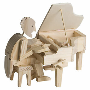 Timberkits Pianist - Wooden Moving Model Self Assembly Construction Piano Gift